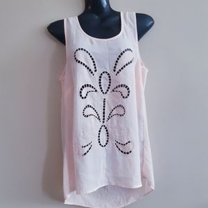 Maurice's | pale coral front cutout flowy tank top